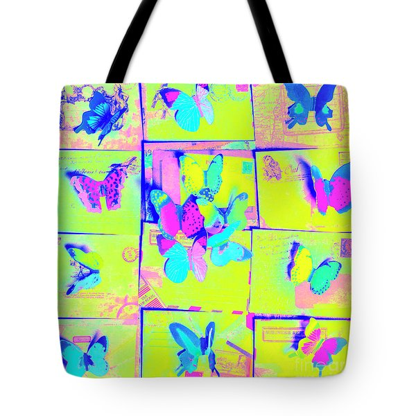 The Butterfly Courier Tote Bag