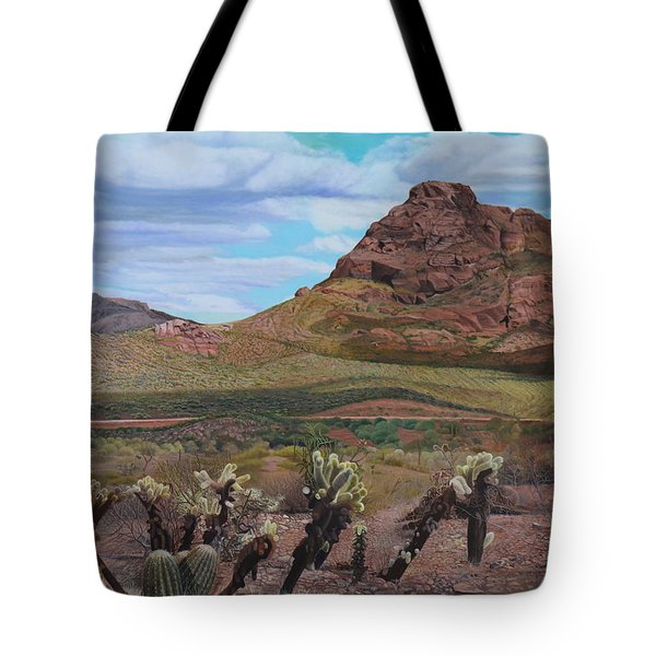 The Cholla At Mount Mcdowell, Arizona Tote Bag