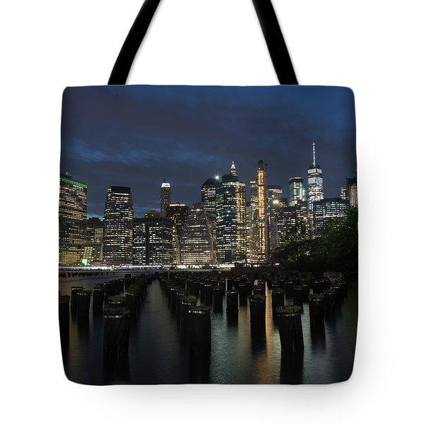 The City Alight Tote Bag