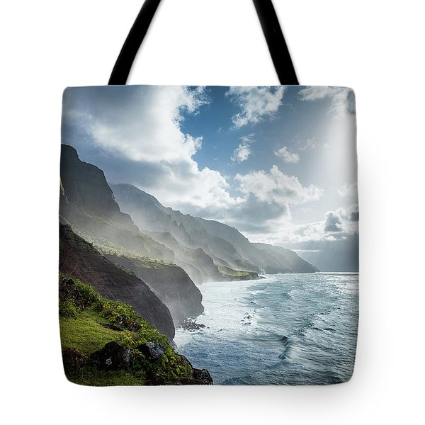 The Cliffs Of Kalalau Tote Bag
