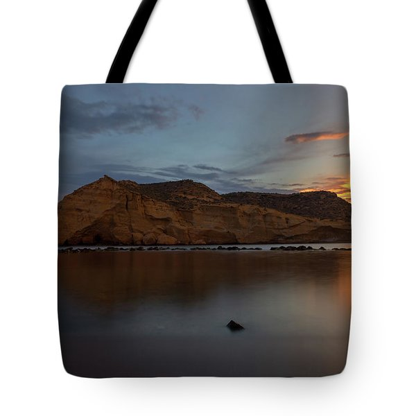 The Closed Cove In Aguilas At Sunset, Murcia Tote Bag