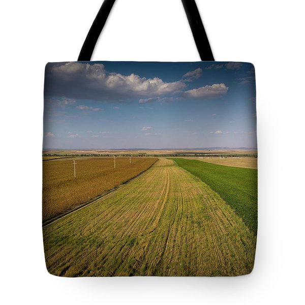 The Colored Fields Tote Bag