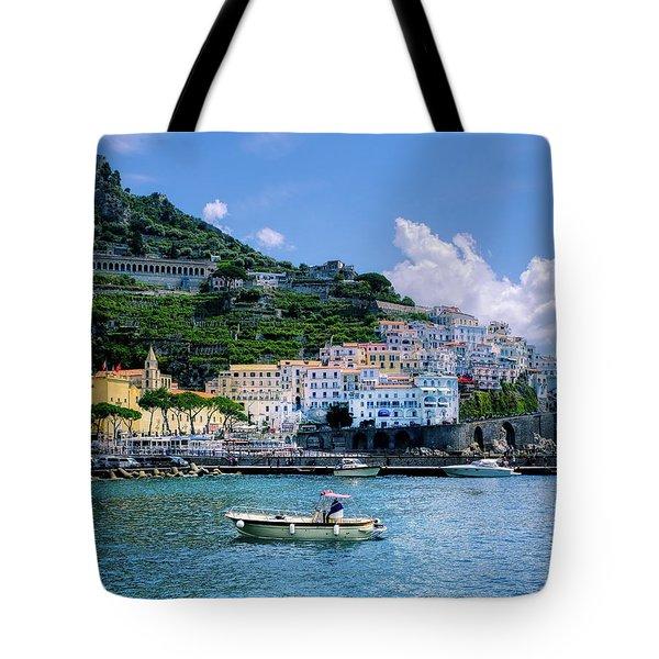 The Colorful Amalfi Coast  Tote Bag