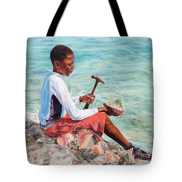 The Conch Boy Tote Bag