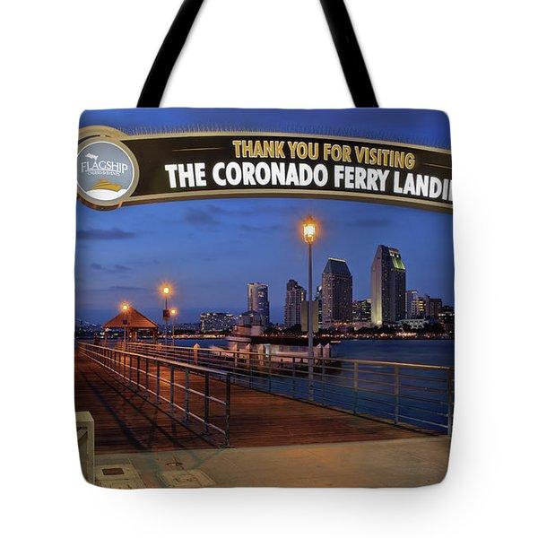 The Coronado Ferry Landing Tote Bag