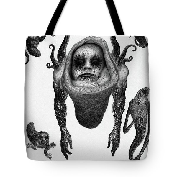 The Corrupted Demon Profile - Artwork Tote Bag