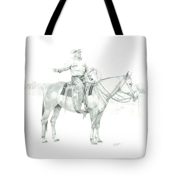 Tote Bag featuring the painting The Cowboy Way by Tammy Taylor