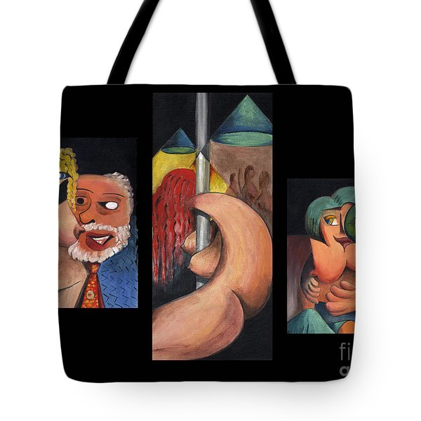 Tote Bag featuring the painting The Craic Is Mighty Ireland by Val Byrne