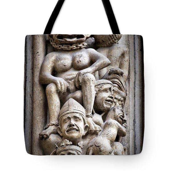 The Damned In Notre Dame De Paris Tote Bag