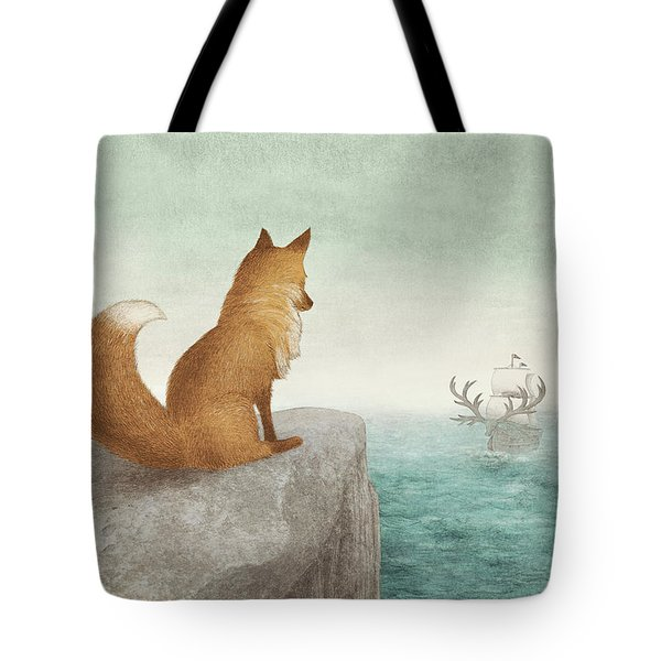 The Day The Antlered Ship Arrived Tote Bag