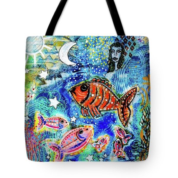 The Day The Stars Fell Into The Ocean Tote Bag