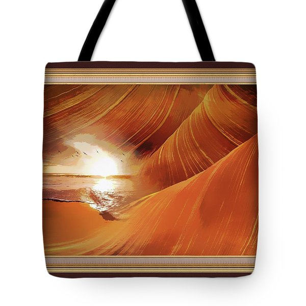 The Desert And The Tide Fantasy Tote Bag