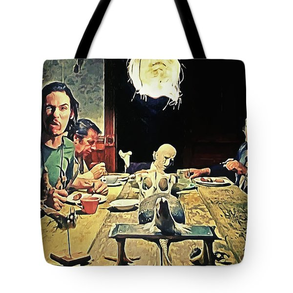 The Dinner Scene - Texas Chainsaw Tote Bag