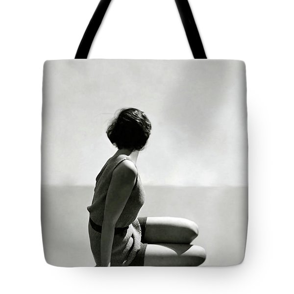 The Diver, Art Deco, 1920 Swim Wear Fashion Tote Bag