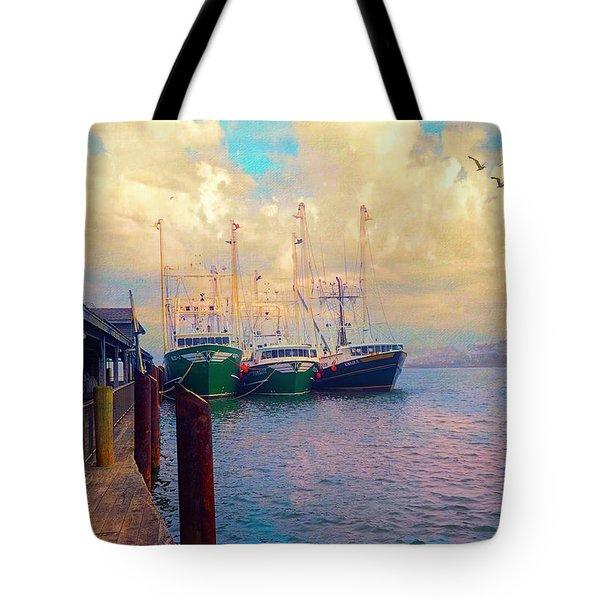 The Docks At Cape May Tote Bag