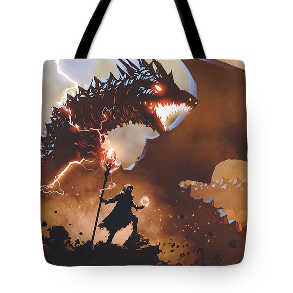 The Dragon Wizard Tote Bag
