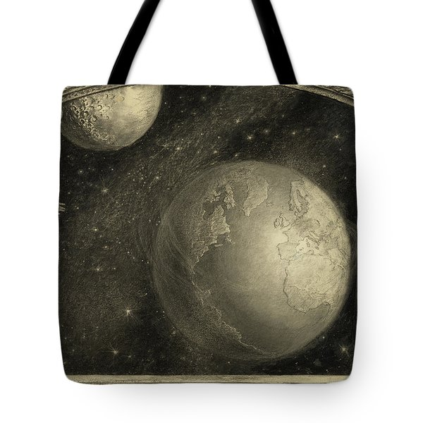 The Earth With The Milky Way And Moon, 1918 Tote Bag