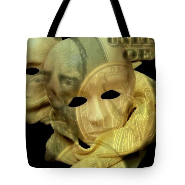 The Face Of Greed Tote Bag