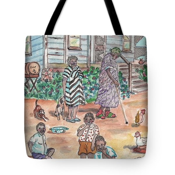 The Family On Magnolia Road Tote Bag
