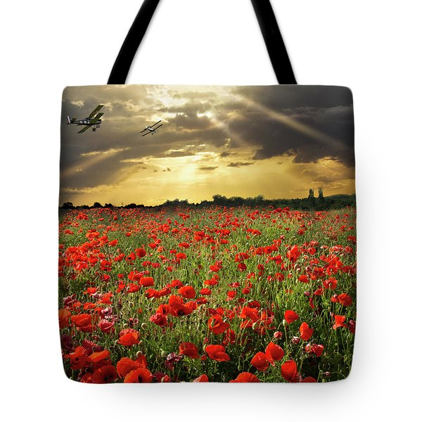 Tote Bag featuring the photograph The Final Sortie Wwi Version by Gary Eason
