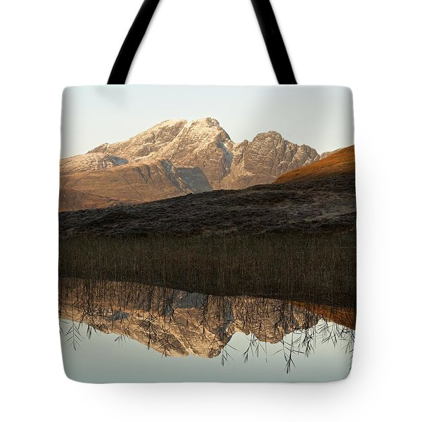 Tote Bag featuring the photograph The First Hint Of Winter At Loch Cill Chriosd by Stephen Taylor