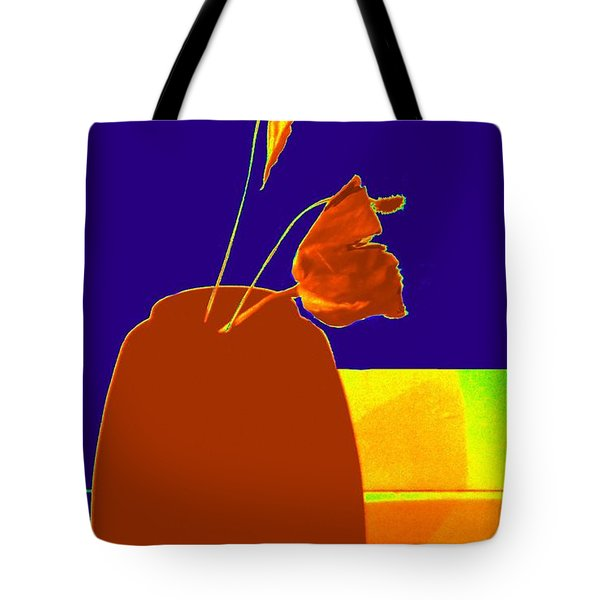 Tote Bag featuring the photograph The First Rose - Pop Art by VIVA Anderson