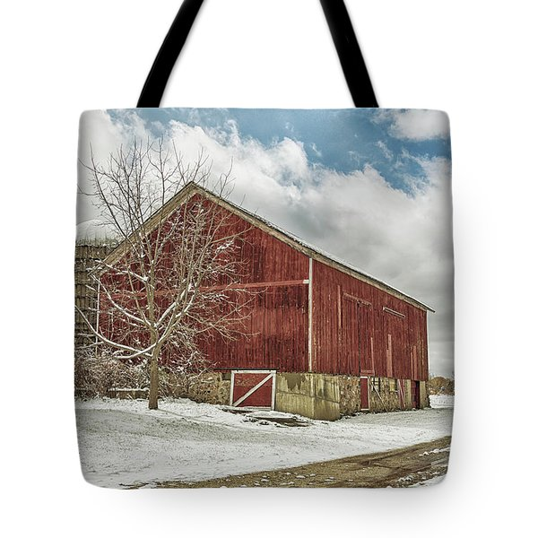 Tote Bag featuring the photograph The First Snow by Kim Hojnacki