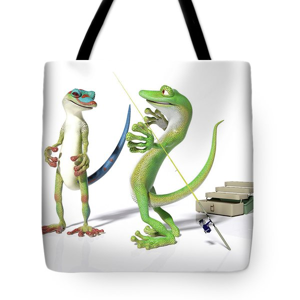 The Fishing Tale Tote Bag