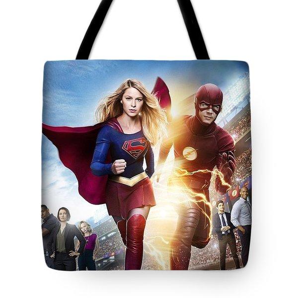 The Flash E Supergirl Tote Bag