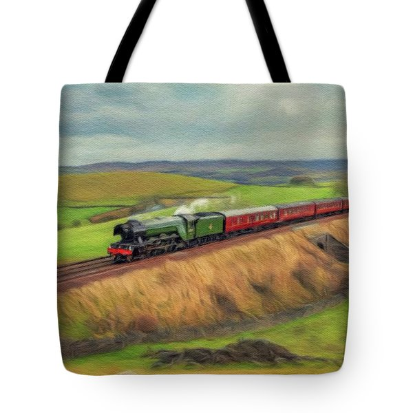 The Flying Scotsman Locomotive Tote Bag