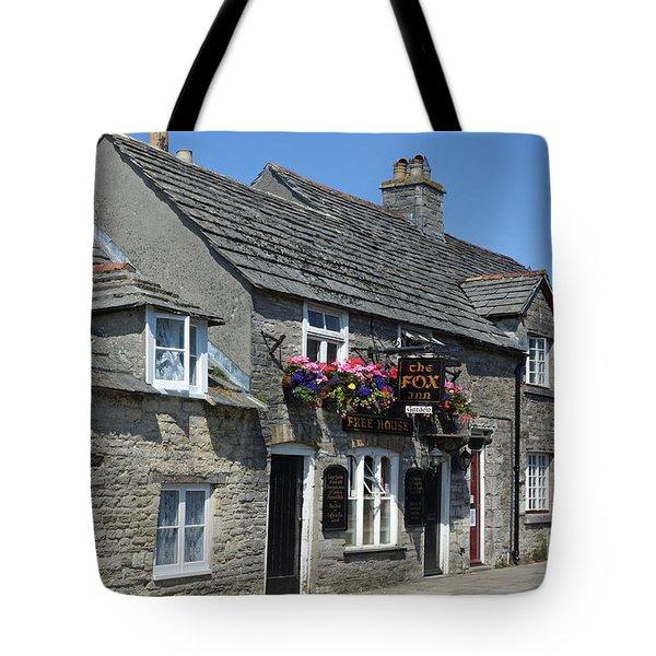 The Fox Inn At Corfe Castle Tote Bag