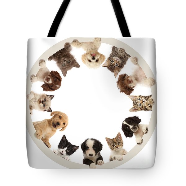 Tote Bag featuring the photograph The Furcle Of Life by Warren Photographic