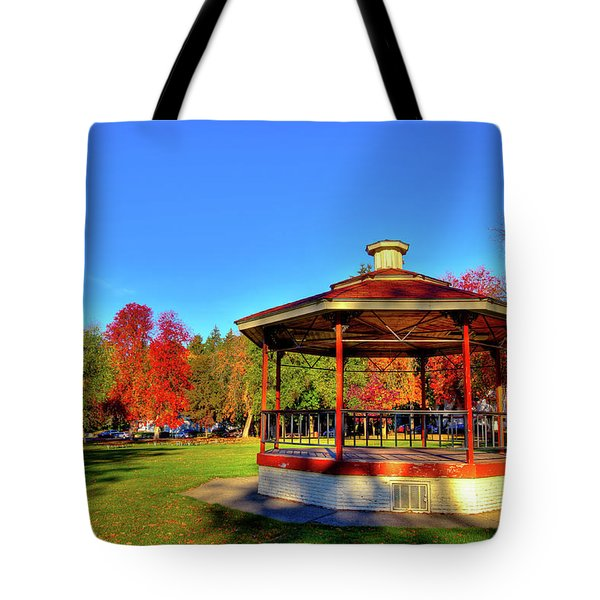Tote Bag featuring the photograph The Gazebo At Reaney Park by David Patterson