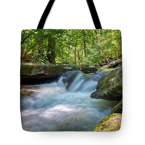 Tote Bag featuring the photograph The Gentle Stream Fall by Mark Dodd