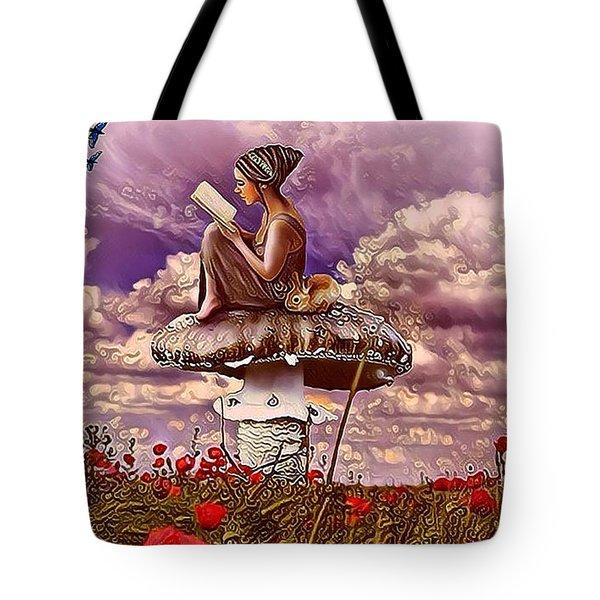 The Girl On The Mushroom Tote Bag