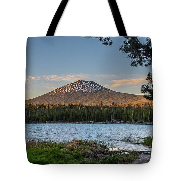 Tote Bag featuring the photograph The Golden Hour At Lava Lake  by Matthew Irvin