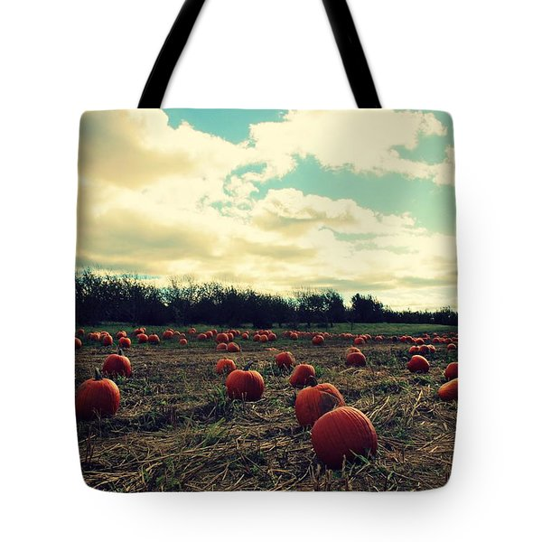 Tote Bag featuring the photograph The Great Pumpkin by Candice Trimble