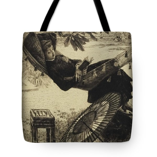 The Hammock, 1880 By Tissot Tote Bag