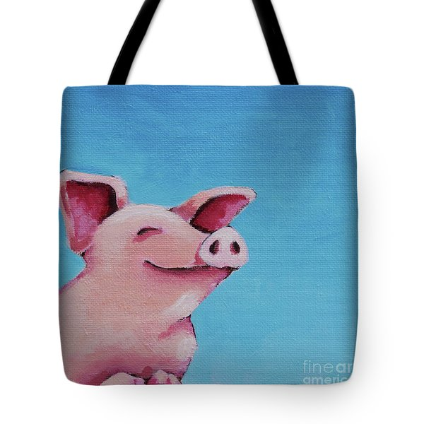 The Happiest Pig Tote Bag