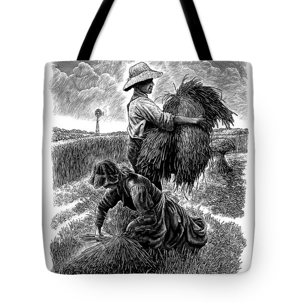 The Harvesters - Bw Tote Bag