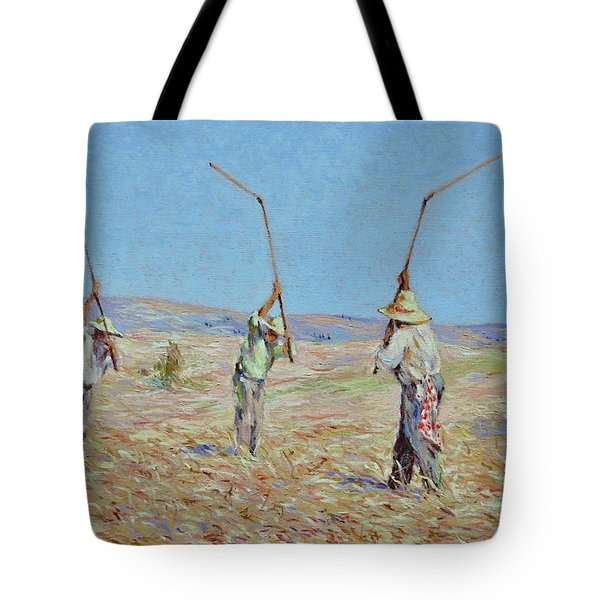 The Haymakers - Pierre Van Dijk 70x90cm Oil Tote Bag