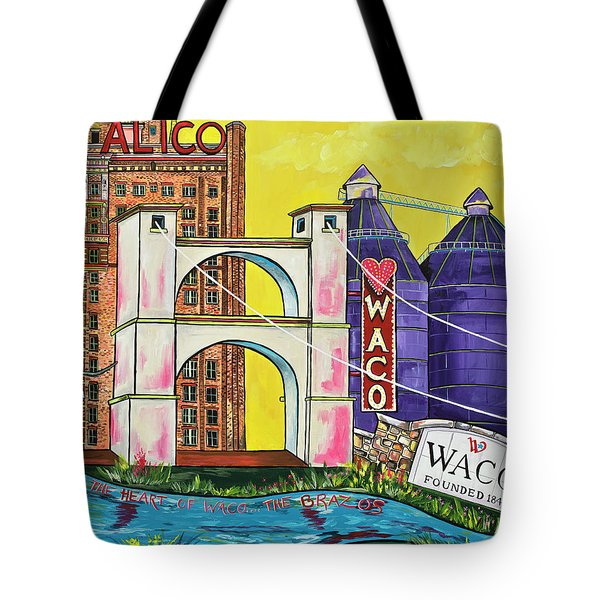 The Heart Of Waco Tote Bag