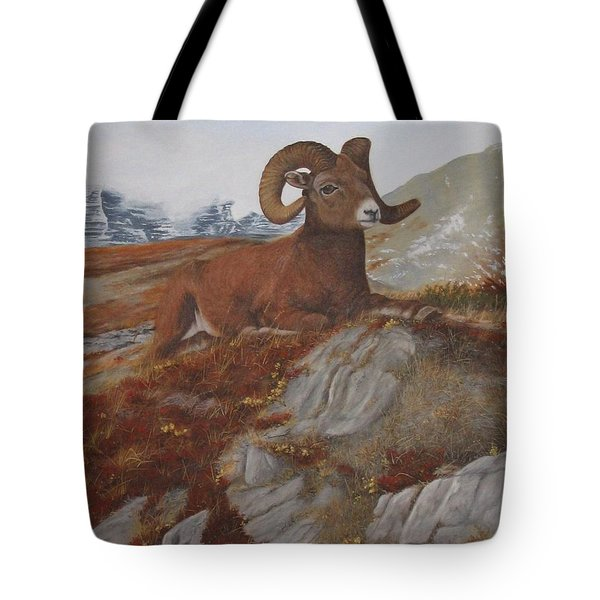 Tote Bag featuring the painting The High Throne by Tammy Taylor