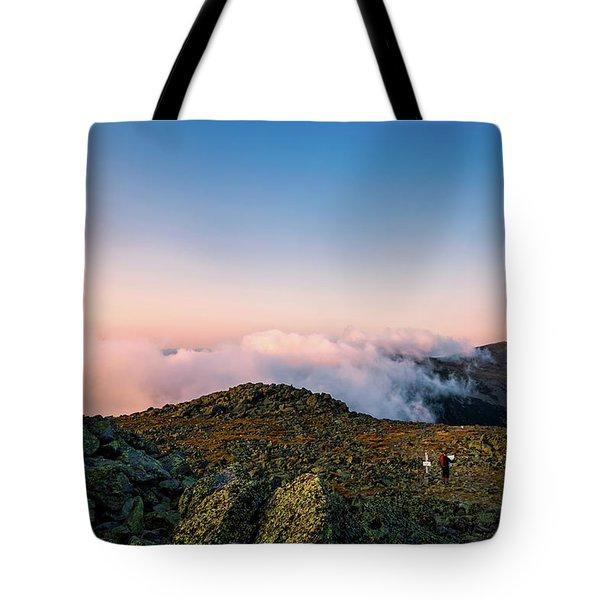 The Hiker - Mt Jefferson, Nh Tote Bag
