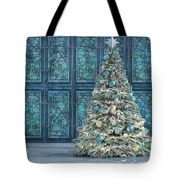 The Hoping Holiday Frog Tote Bag