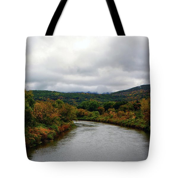 Tote Bag featuring the photograph The Housatonic River From A Bridge In Adams Ma by Raymond Salani III
