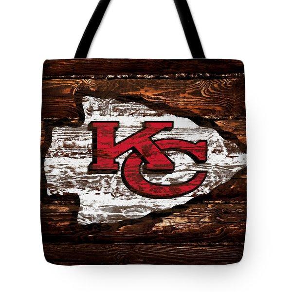 The Kansas City Chiefs  Wood Art Tote Bag