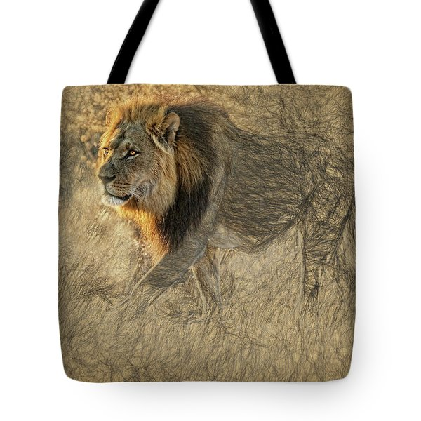 The King Stalks Tote Bag