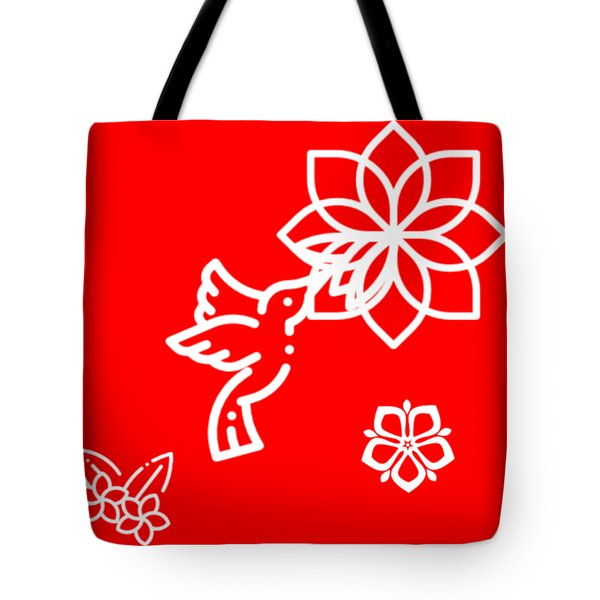 The Kissing Flower On Flower Tote Bag