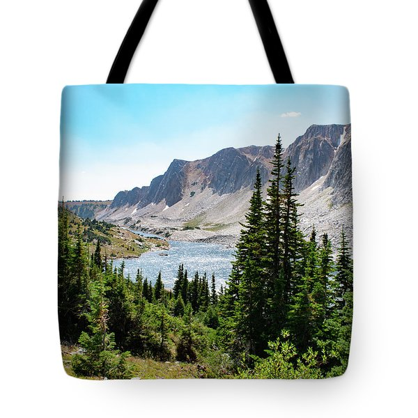 The Lakes Of Medicine Bow Peak Tote Bag